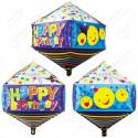 Фигурный шар - Циркон, майлики С Днем Рождения.