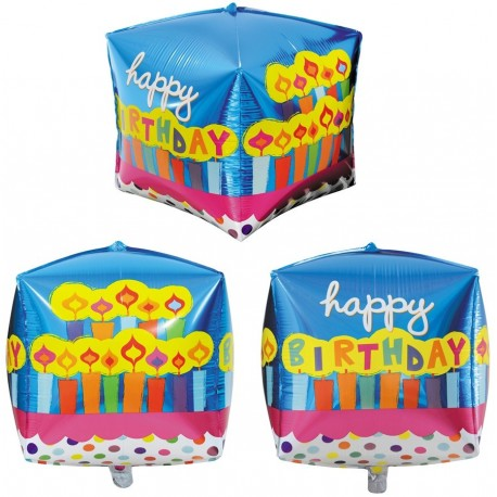Фигурный шар - Циркон, свечки С Днем Рождения. 71 см.