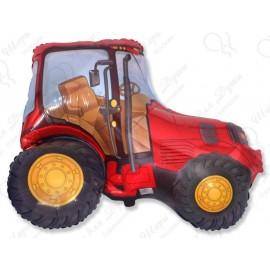 Фольгированный шар - Трактор, красный.
