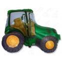 Фольгированный шар - Трактор, зеленый.