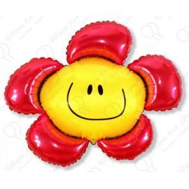Фигурный шар - солнечная улыбка, красная.