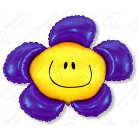 Фигурный шар - солнечная улыбка, фиолетовый.