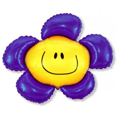 Фигурный шар - солнечная улыбка, фиолетовый. 104 см.