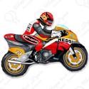 Фигурный шар - мотоцикл, оранжевый.