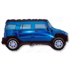 Фигурный шар - машина, синяя.