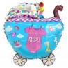 Шар - коляска на выписку, розовый. 61 см.