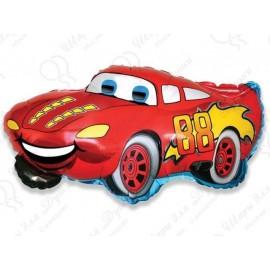 Фигурный шар - гоночная машина, красная. 81 см.