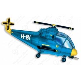 Фигурный шар - вертолет синий.
