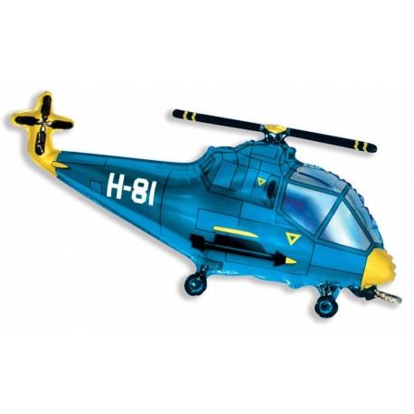 Фигурный шар - вертолет синий. 99 см.