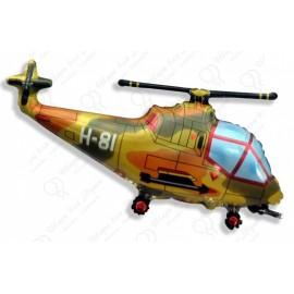 Фигурный шар - вертолет военный.