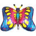 Фигурный шар - бабочка синяя.