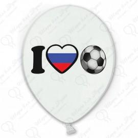 Воздушный шар 38 см футбол, триколор.