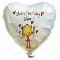 Фольгированное сердце - С Днем Рождения Детка.