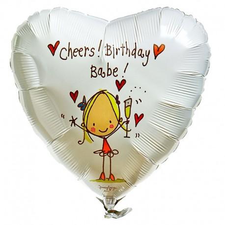 Фольгированное сердце - С Днем Рождения Детка. 46 см.