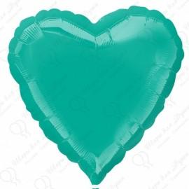 Фольгированное сердце - Изумрудное. 46 см.