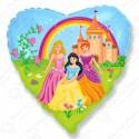 Фольгированное сердце - Замок Принцессы.