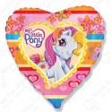 Фольгированное сердце - моя маленькая Пони.