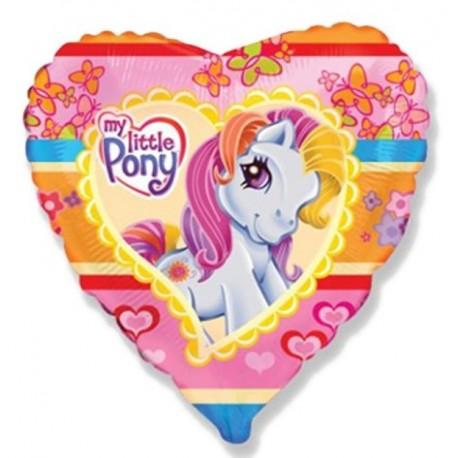 Фольгированное сердце - моя маленькая Пони. 46 см.