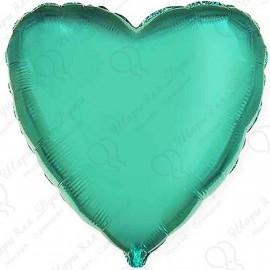 Фольгированное сердце - Изумрудное, 81 см.