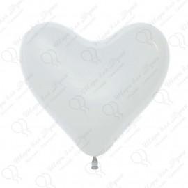 Воздушный шар Сердце, белый, 41 см.