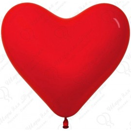 Воздушный шар Сердце, красный. 41 см.