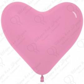 Воздушный шар Сердце, розовый, 41 см.