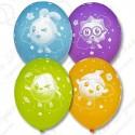 Воздушный шар 38 см Малышарики, пастель, ассорти.