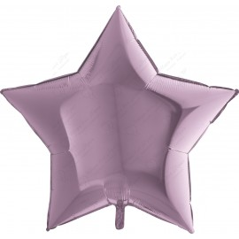 Фольгированный шар - лиловая Звезда. 86 см.