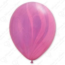 Воздушный шар - супер агат, розово-фиолетовый, 30 см.
