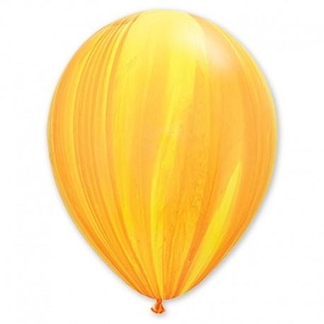 Воздушный шар - супер агат, желто-оранжевый, 30 см.