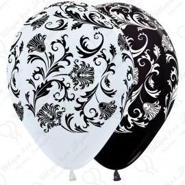 Воздушный шар 30 см узоры, пастель.