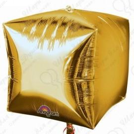Фигурный шар - куб золотой, 71 см.