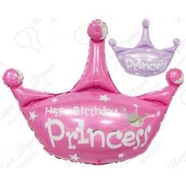 Фигурный шар - Корона ДР принцесса, 81 см.