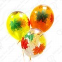 Воздушные шары на 1 Сентября - Кленовые листья, 30 см.