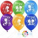 Воздушные шары на 1 Сентября - Удачи, пастель, 30 см.