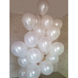 Воздушные шары на 1 Сентября - Белые, 30 см.