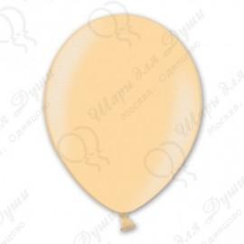 Воздушные шары персик, металлик, 30 см.