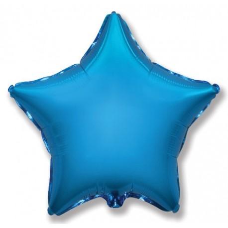 Фольгированный шар - Звезда синяя, 46 см.