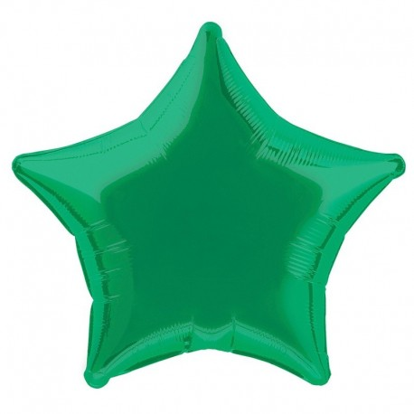 Фольгированный шар - Звезда зеленая. 81 см.