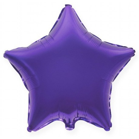 Фольгированный шар - Звезда фиолетовая. 46 см.