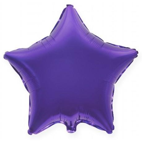 Фольгированный шар - Звезда фиолетовая, 81 см.