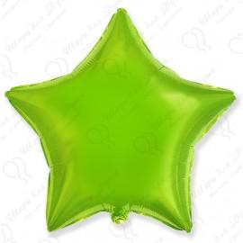Фольгированный шар 46 см  Звезда лайм