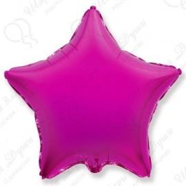 Фольгированный шар 46 см Звезда фуше.