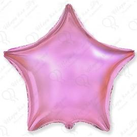 Фольгированный шар - Звезда розовая, пастель. 46 см.