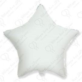 Фольгированный шар 46 см Звезда белая, пастель.