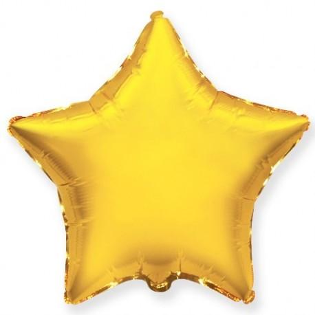 Фольгированный шар - Звезда золотая. 46 см.