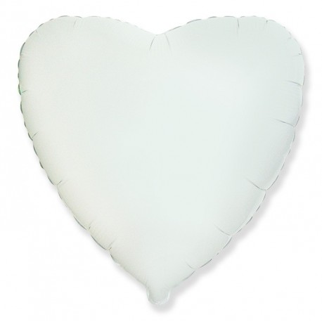 Фольгированное сердце, белое, 81 см.