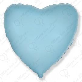 Фольгированное сердце - Голубое, 46 см.