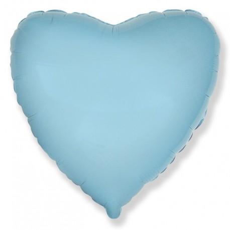 Фольгированное сердце - Голубое. 46 см.