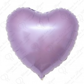 Фольгированное сердце сиреневое, 46 см.